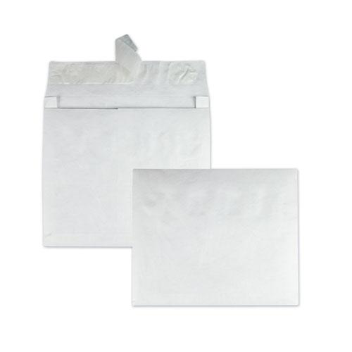 Open Side Expansion Mailers, DuPont Tyvek, #15, Square Flap, Redi-Strip Closure, 10 x 15, White, 100/Carton. Picture 1
