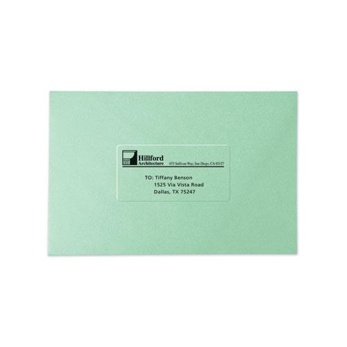 Copier Mailing Labels, Copiers, 1 x 2.81, Clear, 33/Sheet, 70 Sheets/Pack. Picture 6