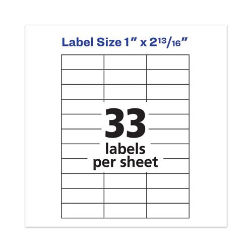 Copier Mailing Labels, Copiers, 1 x 2.81, Clear, 33/Sheet, 70 Sheets/Pack. Picture 7