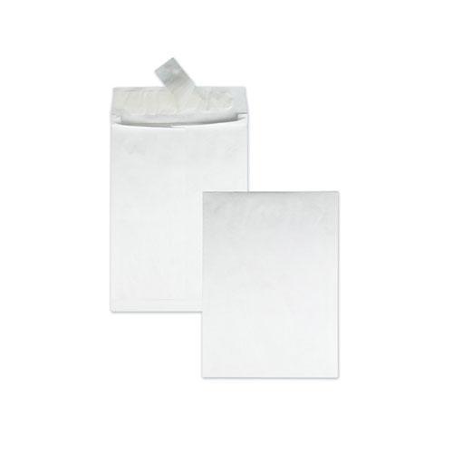 Open End Expansion Mailers, DuPont Tyvek, #13 1/2, Flip-Stik Flap, Redi-Strip Closure, 10 x 13, White, 100/Carton. Picture 1