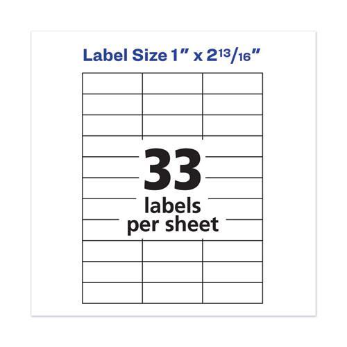 Copier Mailing Labels, Copiers, 1 x 2.81, White, 33/Sheet, 100 Sheets/Box. Picture 7