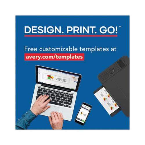 Copier Mailing Labels, Copiers, 1.38 x 2.81, White, 24/Sheet, 100 Sheets/Box. Picture 8
