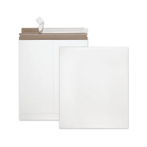 Extra-Rigid Photo/Document Mailer, Cheese Blade Flap, Self-Adhesive Closure, 12.75 x 15, White, 25/Box. Picture 1