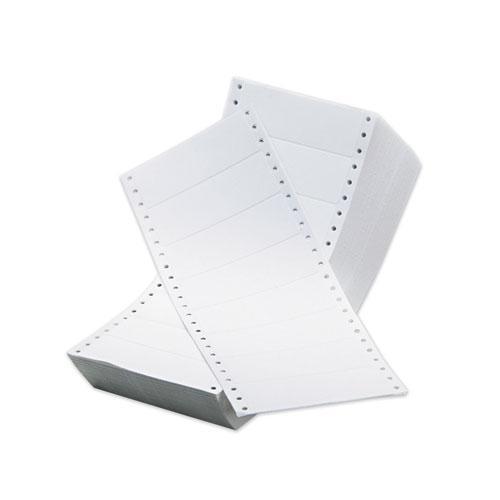 Dot Matrix Printer White Address Labels, Pin-Fed Printers, 1.44 x 4, White, 5,000/Box. Picture 2