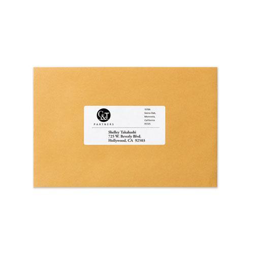 Dot Matrix Printer Mailing Labels, Pin-Fed Printers, 1.94 x 4, White, 5,000/Box. Picture 3