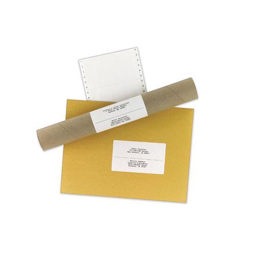 Dot Matrix Printer Mailing Labels, Pin-Fed Printers, 2.94 x 5, White, 3,000/Box. Picture 2