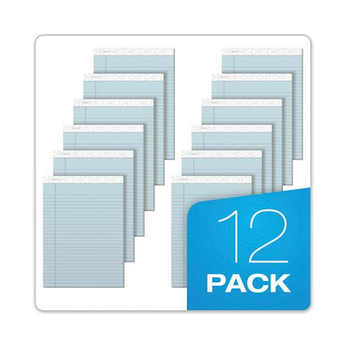Prism + Writing Pads, Wide/Legal Rule, 8.5 x 11.75, Pastel Blue, 50 Sheets, 12/Pack. Picture 3