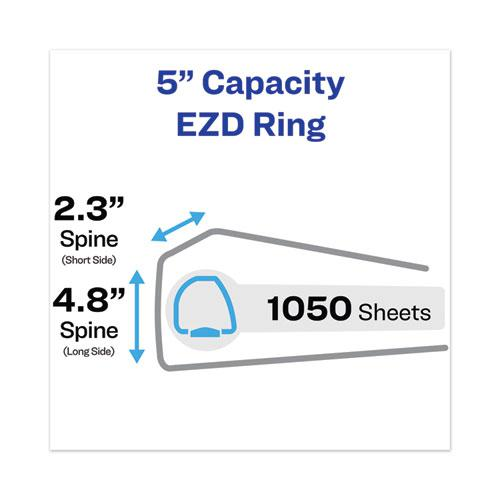 """Heavy-Duty View Binder with DuraHinge and Locking One Touch EZD Rings, 3 Rings, 5"""" Capacity, 11 x 8.5, White. Picture 6"""