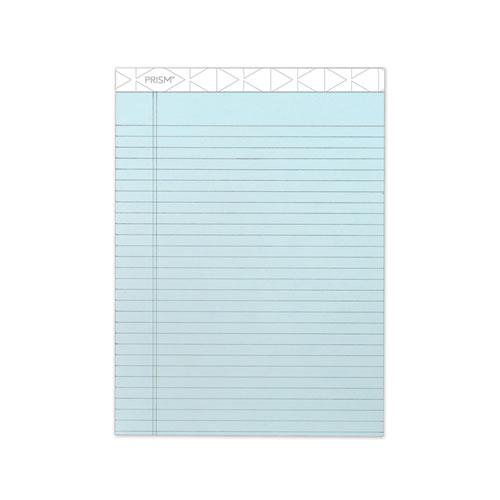 Prism + Writing Pads, Wide/Legal Rule, 8.5 x 11.75, Pastel Blue, 50 Sheets, 12/Pack. Picture 1