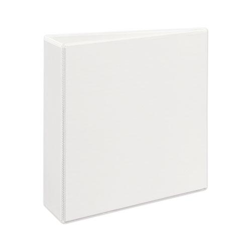 """Heavy-Duty View Binder with DuraHinge and Locking One Touch EZD Rings, 3 Rings, 3"""" Capacity, 11 x 8.5, White. Picture 4"""