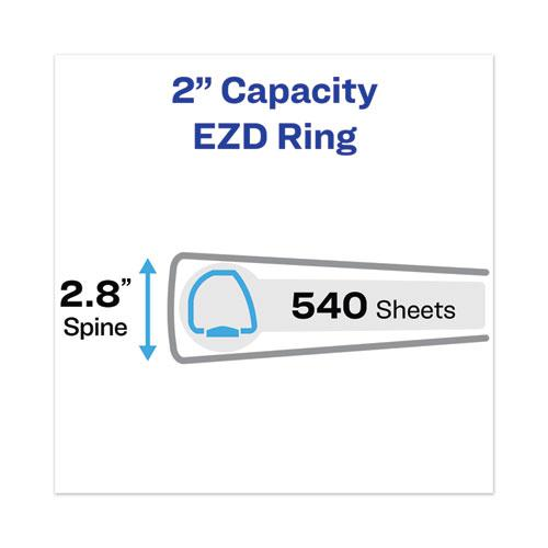 """Heavy-Duty View Binder with DuraHinge and One Touch EZD Rings, 3 Rings, 2"""" Capacity, 11 x 8.5, Navy Blue. Picture 10"""