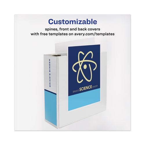 """Heavy-Duty View Binder with DuraHinge and Locking One Touch EZD Rings, 3 Rings, 4"""" Capacity, 11 x 8.5, White. Picture 4"""