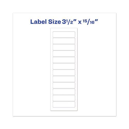 Dot Matrix Printer Mailing Labels, Pin-Fed Printers, 0.94 x 3.5, White, 5,000/Box. Picture 3