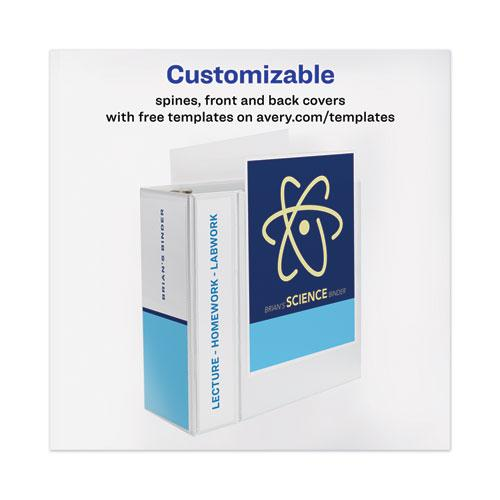 """Heavy-Duty View Binder with DuraHinge and Locking One Touch EZD Rings, 3 Rings, 5"""" Capacity, 11 x 8.5, White. Picture 7"""