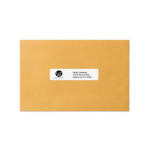 Dot Matrix Printer Mailing Labels, Pin-Fed Printers, 0.94 x 4, White, 5,000/Box. Picture 3