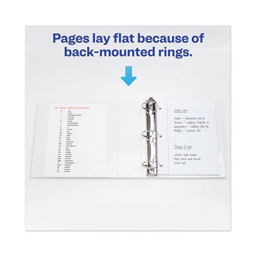 """Heavy-Duty View Binder with DuraHinge and Locking One Touch EZD Rings, 3 Rings, 3"""" Capacity, 11 x 8.5, White. Picture 2"""