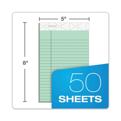 Prism + Writing Pads, Narrow Rule, 5 x 8, Pastel Green, 50 Sheets, 12/Pack. Picture 6