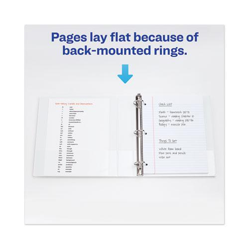 """Heavy-Duty View Binder with DuraHinge, One Touch EZD Rings/Extra-Wide Cover, 3 Ring, 1.5"""" Capacity, 11 x 8.5, White, (1319). Picture 5"""