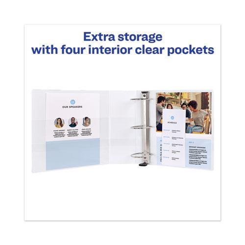 """Heavy-Duty View Binder with DuraHinge and Locking One Touch EZD Rings, 3 Rings, 4"""" Capacity, 11 x 8.5, White. Picture 5"""
