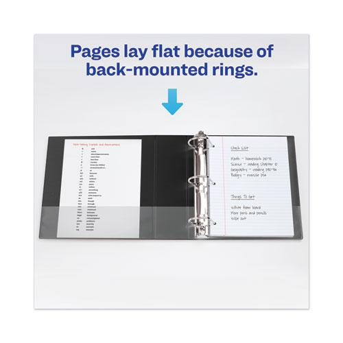 """Heavy-Duty View Binder with DuraHinge and Locking One Touch EZD Rings, 3 Rings, 4"""" Capacity, 11 x 8.5, Black. Picture 3"""