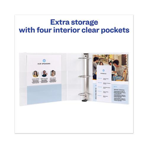 """Heavy-Duty View Binder with DuraHinge and Locking One Touch EZD Rings, 3 Rings, 3"""" Capacity, 11 x 8.5, White. Picture 9"""