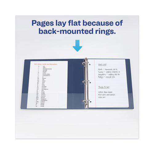 """Heavy-Duty View Binder with DuraHinge and One Touch EZD Rings, 3 Rings, 2"""" Capacity, 11 x 8.5, Navy Blue. Picture 5"""
