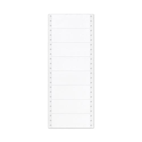 Dot Matrix Printer Mailing Labels, Pin-Fed Printers, 1.44 x 4, White, 5,000/Box. Picture 2