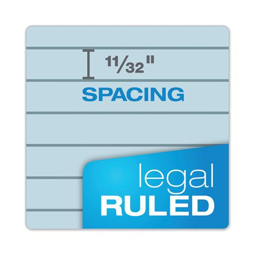 Prism + Writing Pads, Wide/Legal Rule, 8.5 x 11.75, Pastel Blue, 50 Sheets, 12/Pack. Picture 6