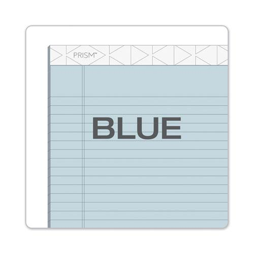 Prism + Writing Pads, Wide/Legal Rule, 8.5 x 11.75, Pastel Blue, 50 Sheets, 12/Pack. Picture 5