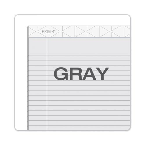 Prism + Writing Pads, Wide/Legal Rule, 8.5 x 11.75, Pastel Gray, 50 Sheets, 12/Pack. Picture 7