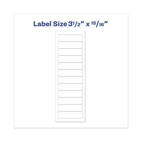 Dot Matrix Printer White Address Labels, Pin-Fed Printers, 0.94 x 3.5, White, 5,000/Box. Picture 2