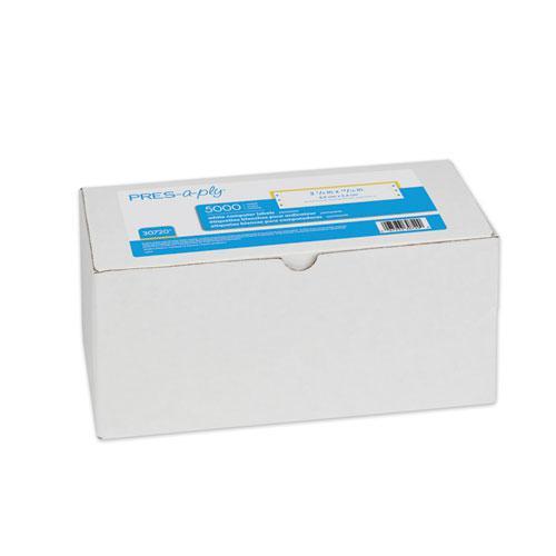 Dot Matrix Printer White Address Labels, Pin-Fed Printers, 0.94 x 3.5, White, 5,000/Box. Picture 1