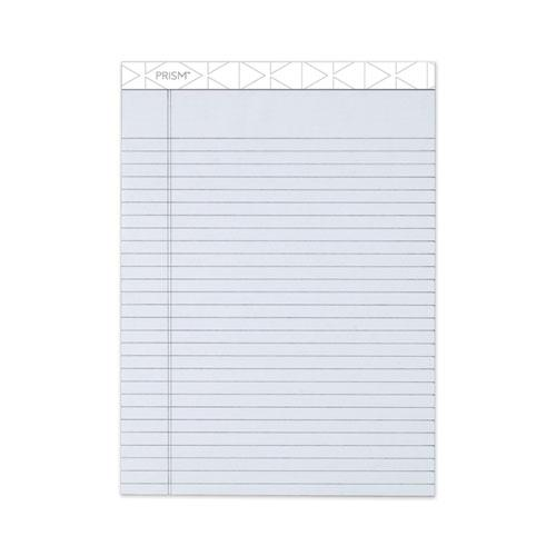 Prism + Writing Pads, Wide/Legal Rule, 8.5 x 11.75, Pastel Gray, 50 Sheets, 12/Pack. Picture 1