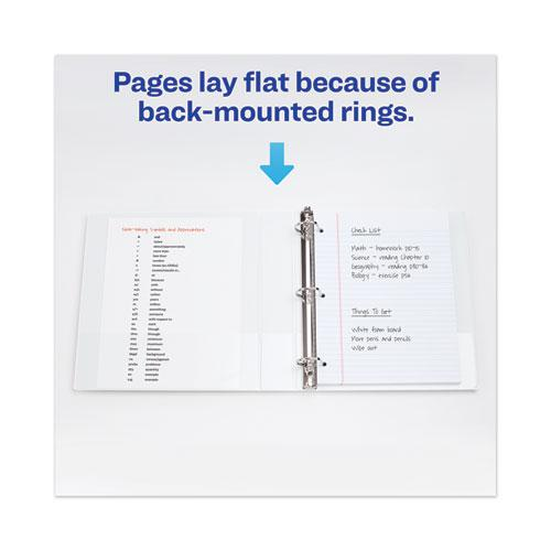 "Heavy-Duty View Binder with DuraHinge and One Touch EZD Rings, 3 Rings, 1.5"" Capacity, 11 x 8.5, White. Picture 6"