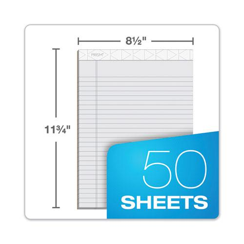 Prism + Writing Pads, Wide/Legal Rule, 8.5 x 11.75, Pastel Gray, 50 Sheets, 12/Pack. Picture 6