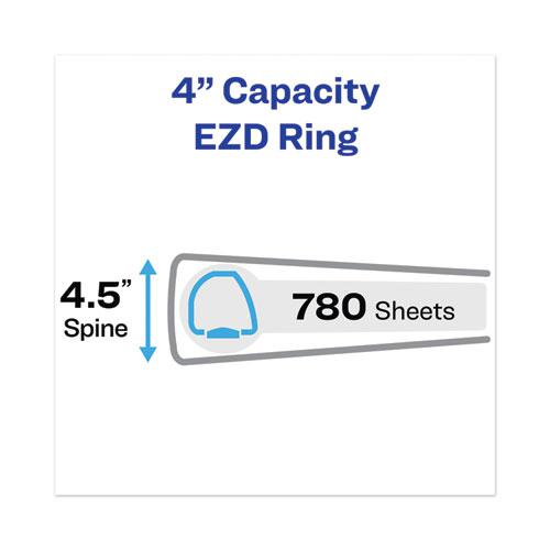 """Heavy-Duty View Binder with DuraHinge and Locking One Touch EZD Rings, 3 Rings, 4"""" Capacity, 11 x 8.5, Black. Picture 2"""