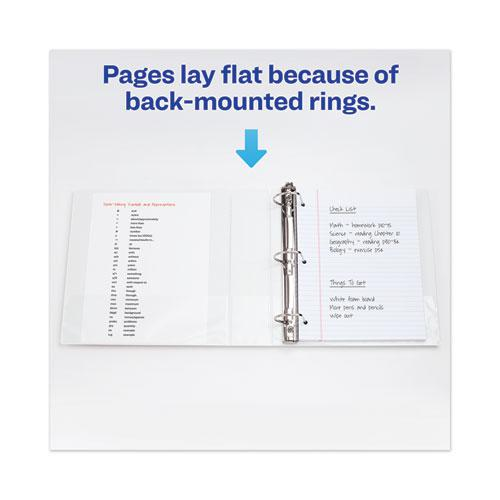 """Heavy-Duty View Binder with DuraHinge and One Touch EZD Rings, 3 Rings, 2"""" Capacity, 11 x 8.5, White. Picture 7"""