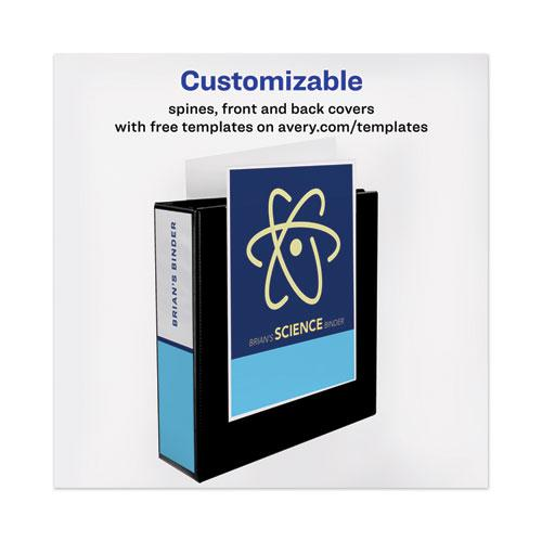 """Heavy-Duty View Binder with DuraHinge and Locking One Touch EZD Rings, 3 Rings, 3"""" Capacity, 11 x 8.5, Black. Picture 7"""