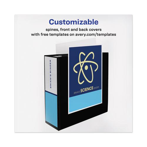 """Heavy-Duty View Binder with DuraHinge and Locking One Touch EZD Rings, 3 Rings, 4"""" Capacity, 11 x 8.5, Black. Picture 4"""