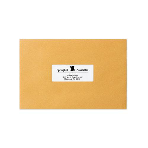 Dot Matrix Printer White Address Labels, Pin-Fed Printers, 1.44 x 4, White, 5,000/Box. Picture 3