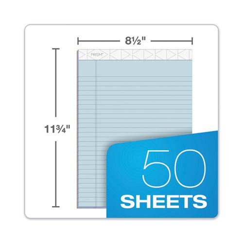 Prism + Writing Pads, Wide/Legal Rule, 8.5 x 11.75, Pastel Blue, 50 Sheets, 12/Pack. Picture 4