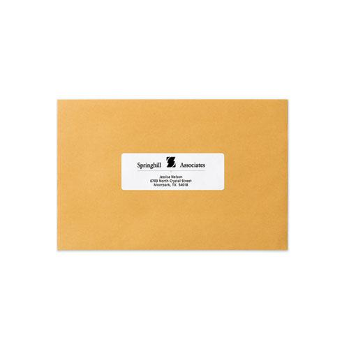 Dot Matrix Printer Mailing Labels, Pin-Fed Printers, 1.44 x 4, White, 5,000/Box. Picture 3