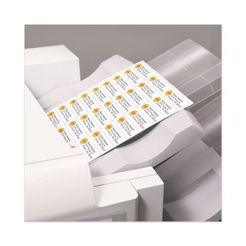 White Copier Labels, Copiers, 1 x 2.81, White, 33/Sheet, 100 Sheets/Box. Picture 4