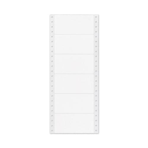 Dot Matrix Printer Mailing Labels, Pin-Fed Printers, 1.94 x 4, White, 5,000/Box. Picture 2