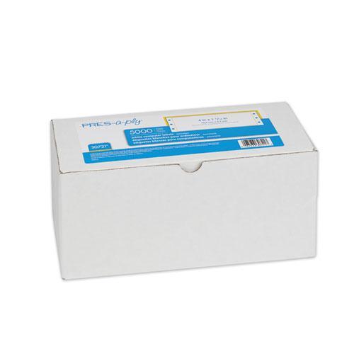 Dot Matrix Printer White Address Labels, Pin-Fed Printers, 1.44 x 4, White, 5,000/Box. Picture 1