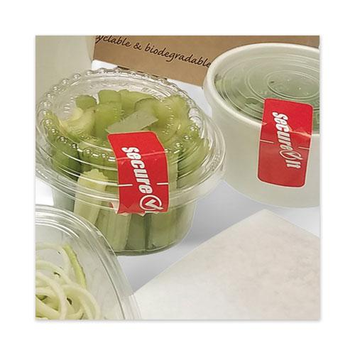 "SecureIT Tamper Evident Food Container Seal, ""Secure It"", 1 x 3, Red, 250/Roll, 2 Rolls/Pack. Picture 1"
