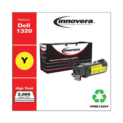 Remanufactured Yellow High-Yield Toner, Replacement for Dell 1320 (310-9062), 2,000 Page-Yield. Picture 2