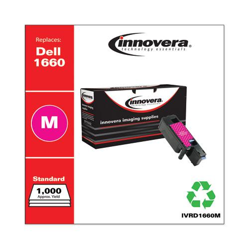 Remanufactured Magenta Toner, Replacement for Dell 1660M (332-0401), 1,000 Page-Yield. Picture 1