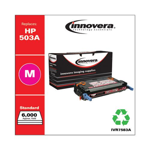 Remanufactured Magenta Toner, Replacement for HP 503A (Q7583A), 6,000 Page-Yield. Picture 2
