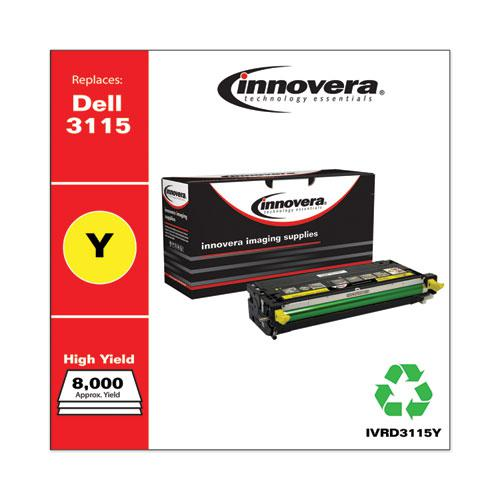 Remanufactured Yellow High-Yield Toner, Replacement for Dell 3115 (310-8401), 8,000 Page-Yield. Picture 2